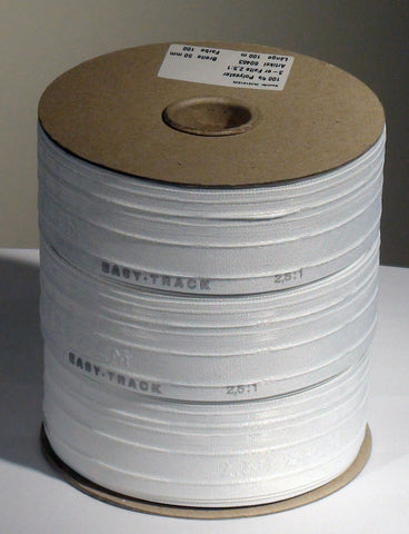 50mm wide, 2.5:1 fullness, triple pleat tape - Sold by the roll