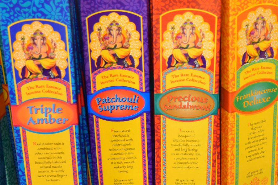 Large selection of incense at East West Bookshop!