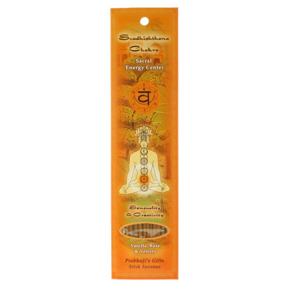 Chakra Svadhishthana Incense Sacral Energy Center from Prabhuji's Gifts