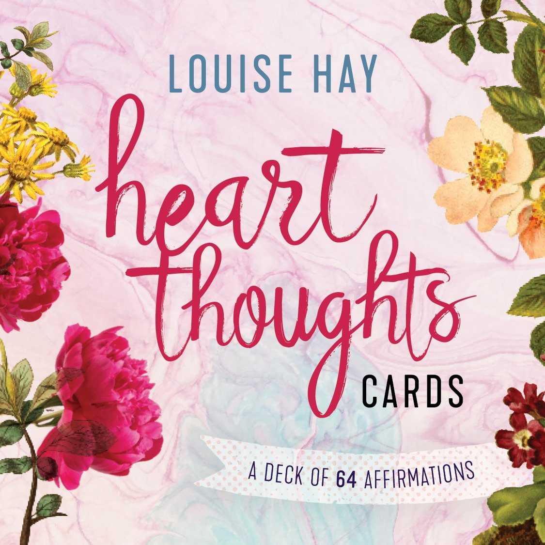 Heart Thoughts Cards A Deck Of 64 Affirmations by Louise L Hay