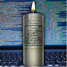 Affirmation Blessed Candle - Grief