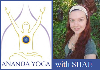 April 12, 2018 - Thursday 10:30-11:45am - Ananda Yoga - with Shaefeather Windsong