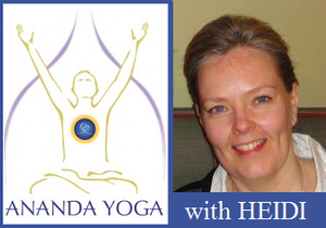 March 26, 2018 - Monday 10:30-11:45am - Ananda Yoga - with Heidi MacBeth