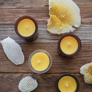 6oz Beeswax Candles in Glass
