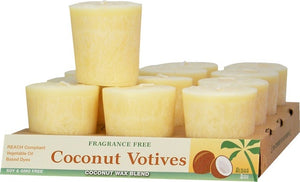 Votive Cream Unscented Coconut Wax