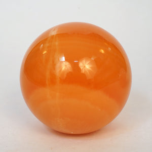 Orange Calcite Sphere Orb