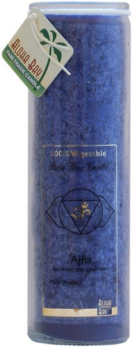 Candle Jar Unscented Third Eye Blue