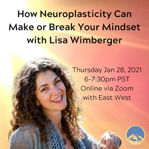 January 28, 2021 - Thursday 6-7:30pm PDT - How Neuroplasticity Can Make or Break Your Mindset - with Lisa Wimberger - Webinar