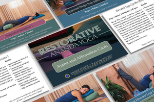 Restorative Ananda Yoga Asana and Affirmation Cards by The Ananda School of Yoga and Meditation
