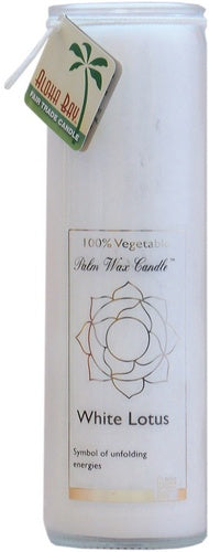 Candle Jar Unscented Lotus White
