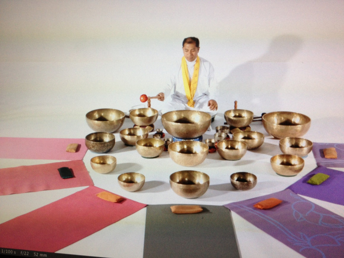 April 25, 2020 - Saturday 7:30-9pm - Tibetan Singing Bowl Group Healing at East West - with Suren Shrestha