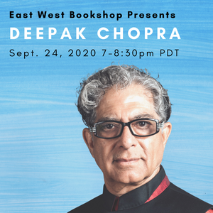 September 24, 2020 - Thursday 7-8:30pm Pacific - Deepak Chopra — Total Meditation: Practices in Living the Awakened Life Webinar - includes Free Book!