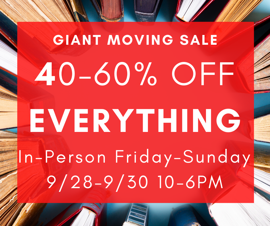 September 28-30, 2020 - RESCHEDULED - Monday-Wednesday 10-6pm - GIANT MOVING SALE 40-60% off Everything - East West at Ananda Community