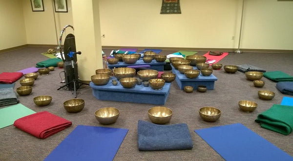 May 10, 2017 - Wednesday 6:45-8:30pm - Singing Bowl Yoga: Full Moon Sound Bath in a Hatha Yoga routine - with Maria Nunez & Shae Windsong
