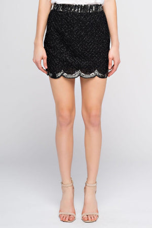 Cloud Laser cut mini Skirt. - Mixed Emotions Boutique