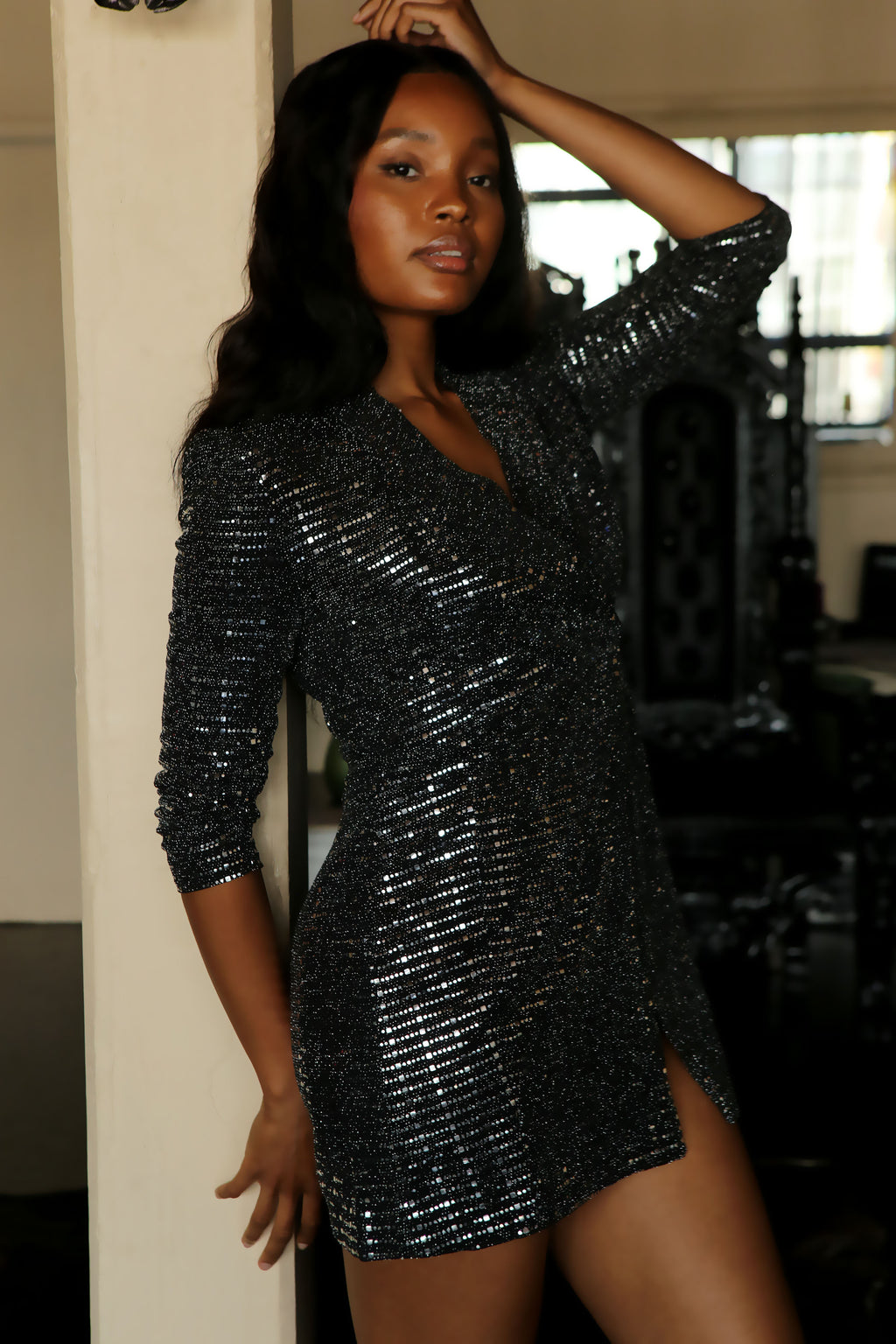 Sequin Blazer Dress - Mixed Emotions Boutique