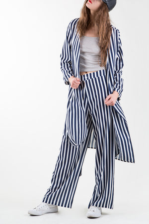 Navy Stripe Set - Mixed Emotions Boutique