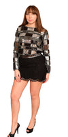 Beaded Sequin Longsleeve Top - Mixed Emotions Boutique