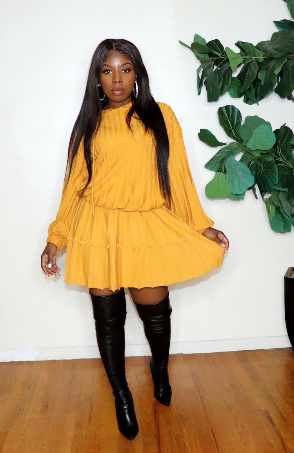 Golden Girl |Knit Skirt Set