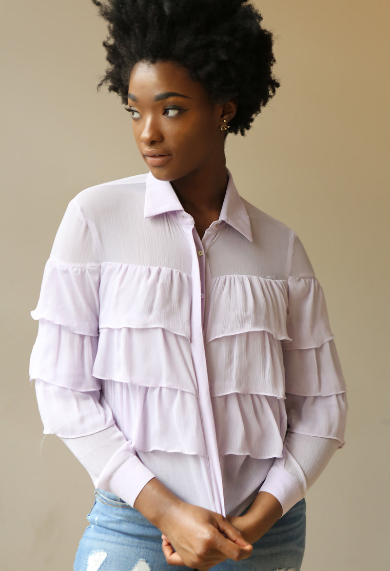 Lavender Ruffles - Mixed Emotions Boutique