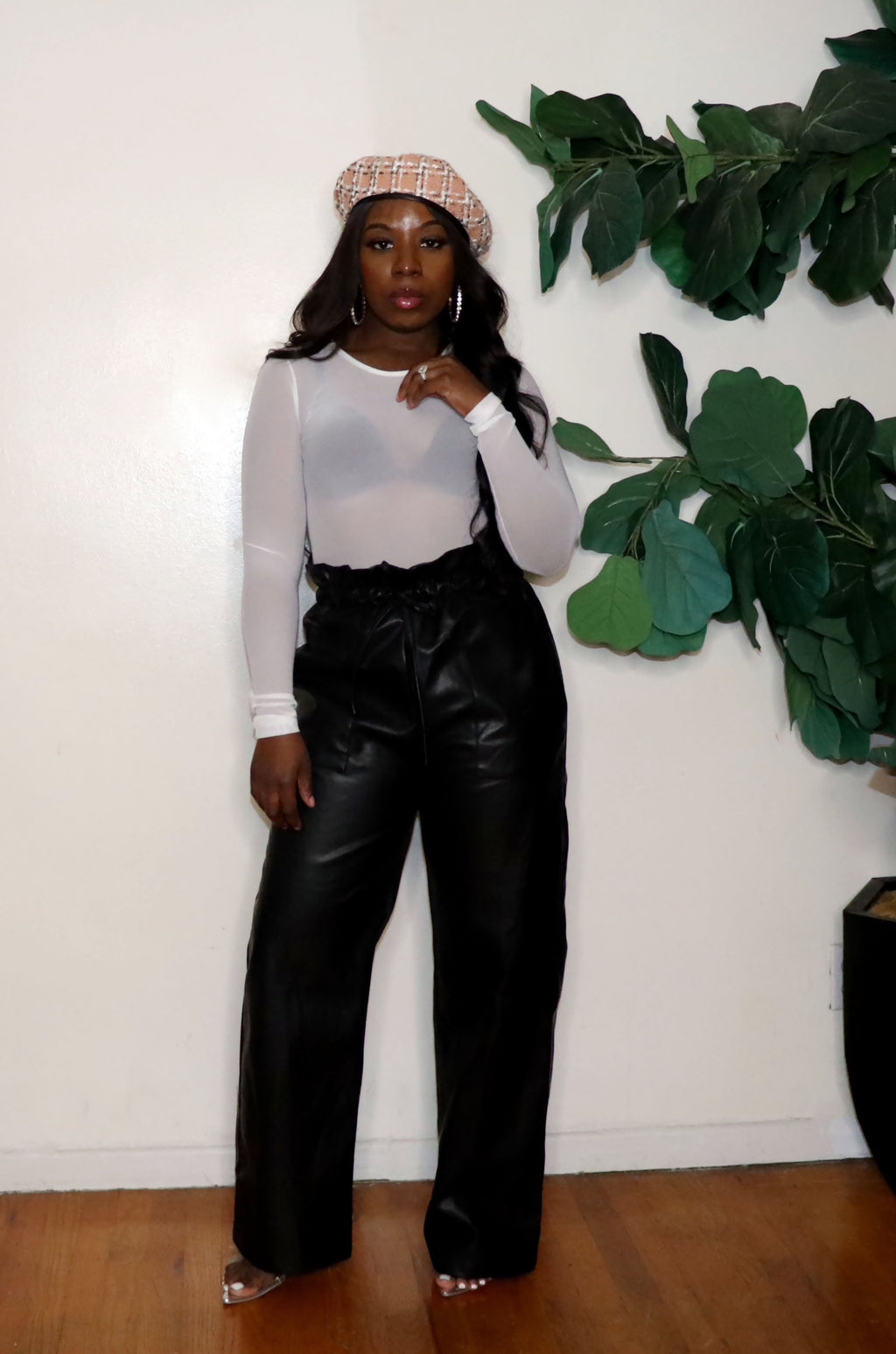 Like This | Vegan Leather Paper Bag Pants