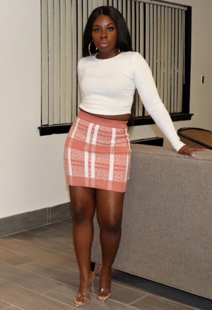 Check Mate | Knit Skirt