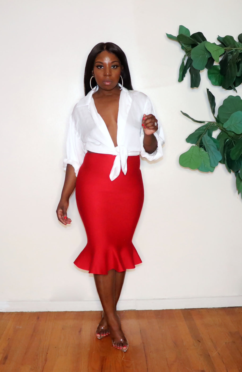 Red Hot | Mermaid Skirt