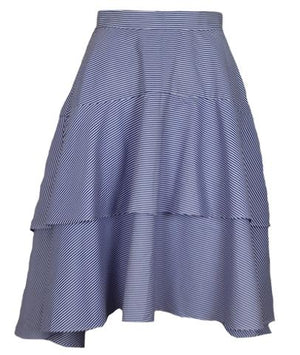 Tiered Ruffle Stripe Skirt - Mixed Emotions Boutique