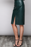 Faux Leather Midi Skirt - Mixed Emotions Boutique