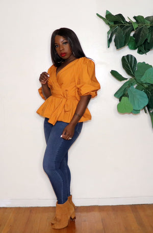 Wrapped Up |Peplum Blouse