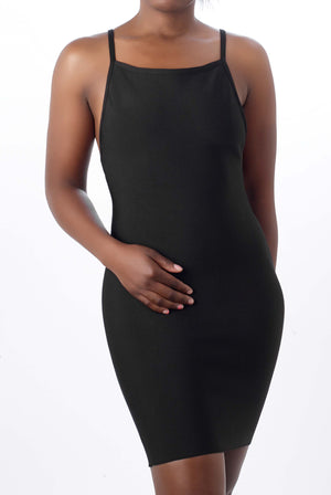 Black bandage scoop back Dress - Mixed Emotions Boutique