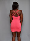 Coral Pink Bodycon Dress - Mixed Emotions Boutique