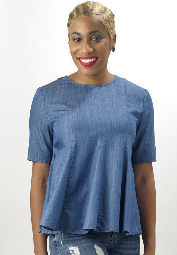 Denim Swing top - Mixed Emotions Boutique