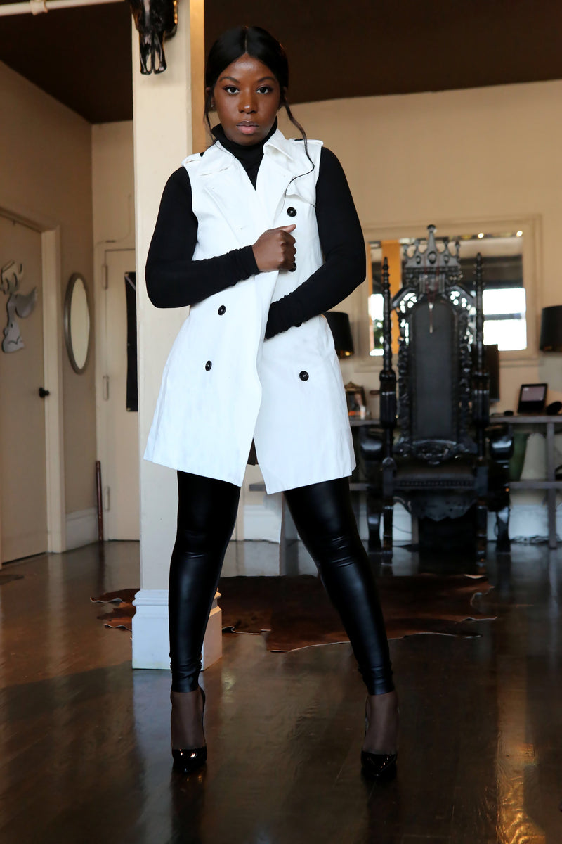 French Trench Vest - Mixed Emotions Boutique