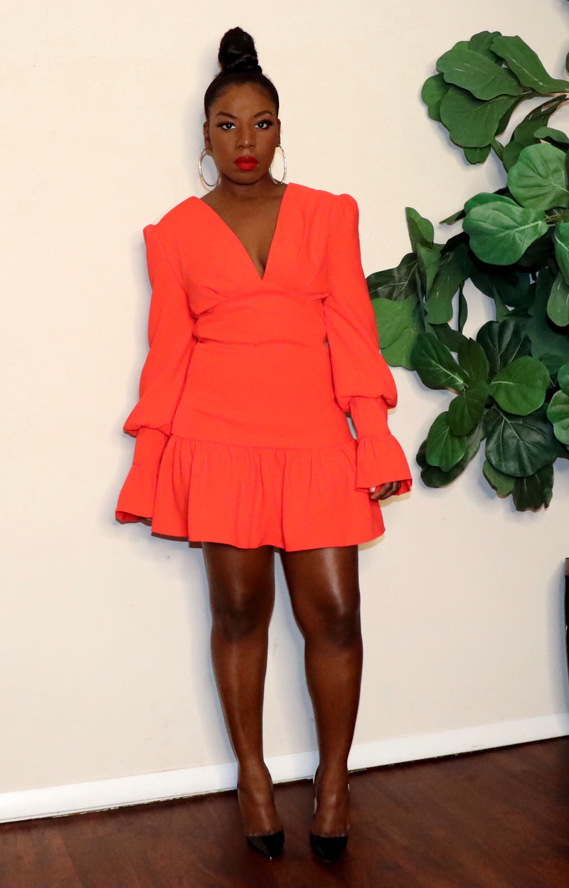 Pretty Lil Thing| Dress| (Orange)