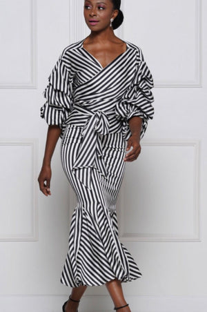 Classics Stripes | Midi skirt
