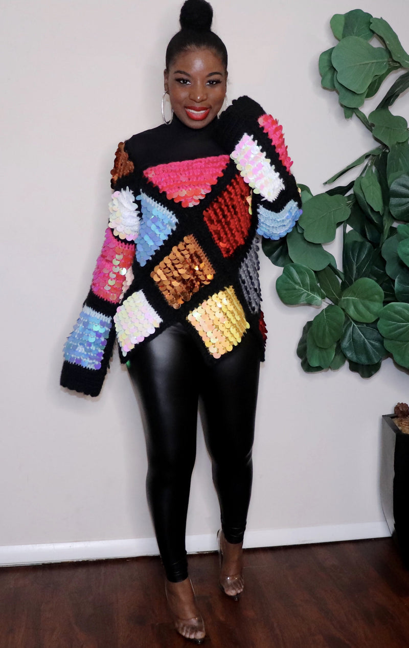 Over the Rainbow | Sequins Knit Sweater