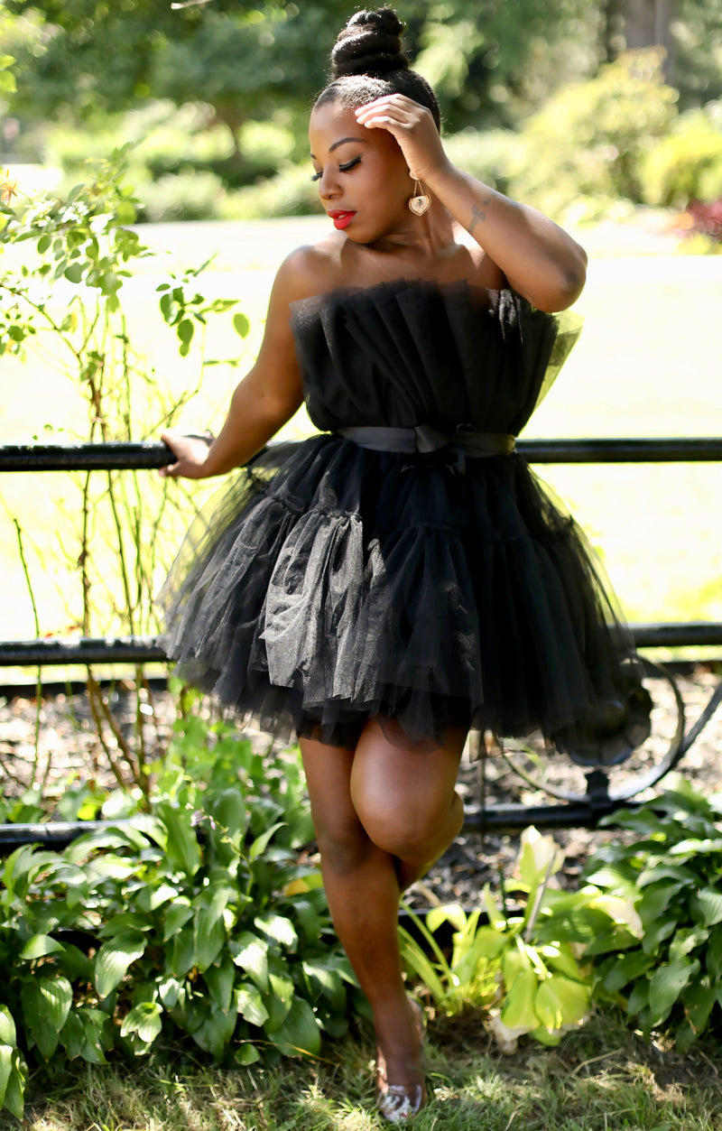 Black Love| Halter Tulle Dress