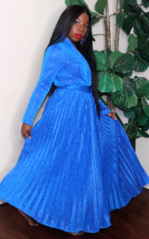 Glitter | Maxi dress (Royal)