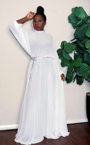 Goddess |Pleated Maxi