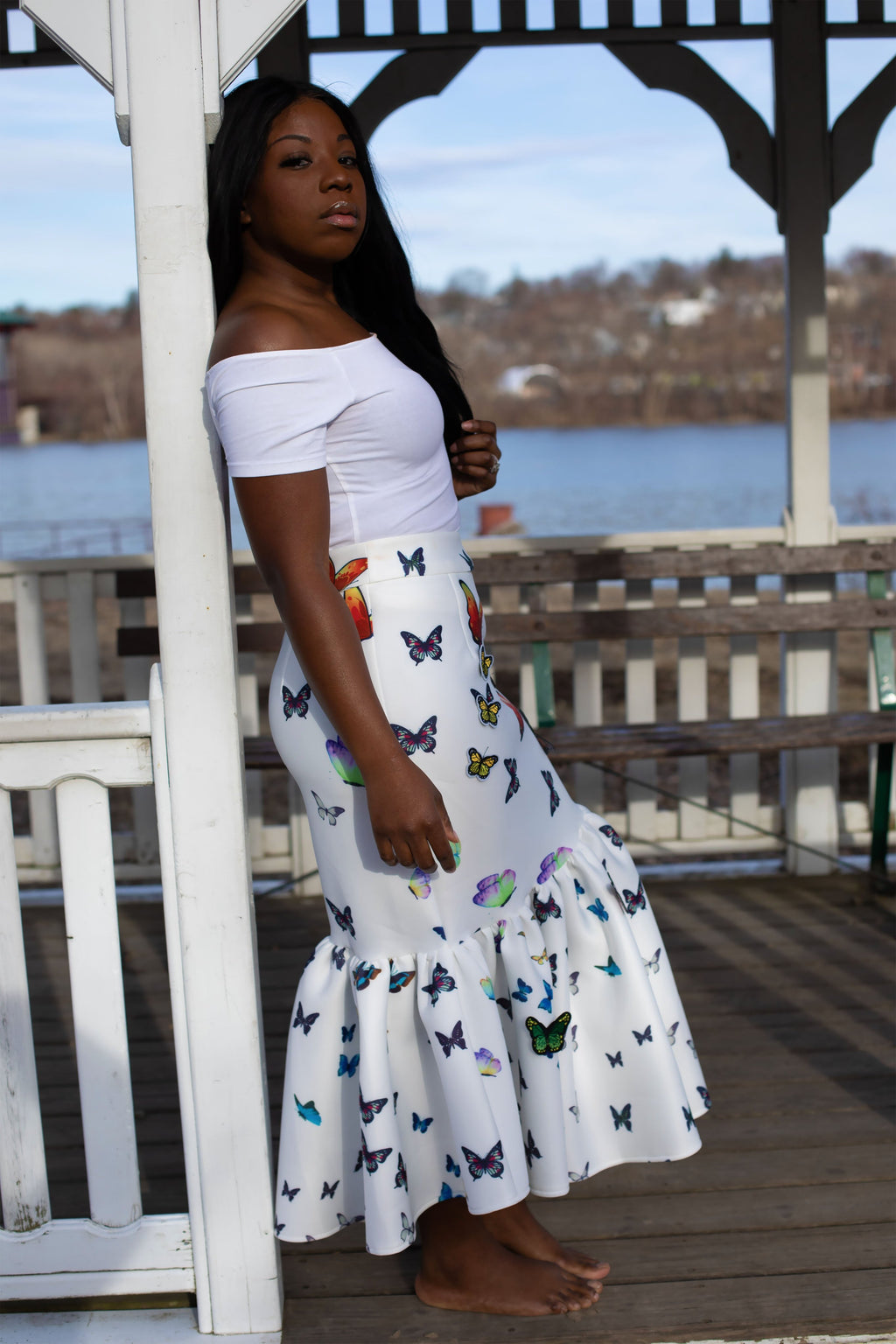 Blooming Butterflies | Mermaid Skirt