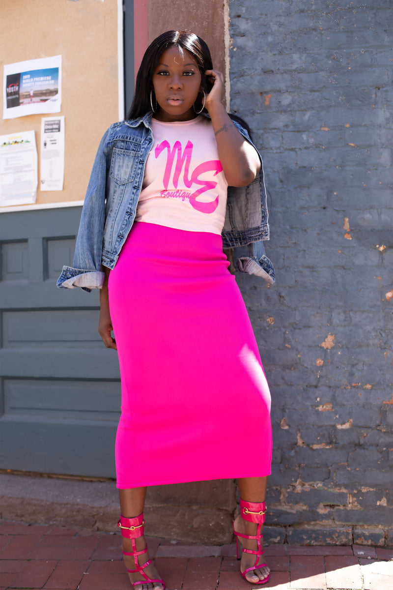 MEB Pink Logo T-shirt - Mixed Emotions Boutique