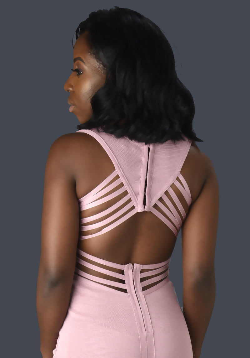 Passion Midi Strappy Back Bandage Dress - Mixed Emotions Boutique