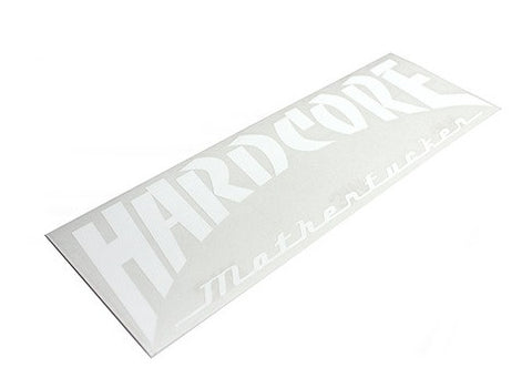 "HARDCORE ""MotherF****r"" White Sticker"