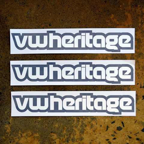 VW Heritage Lettering Sticker