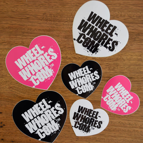 Wheel Whores Hearts Sticker