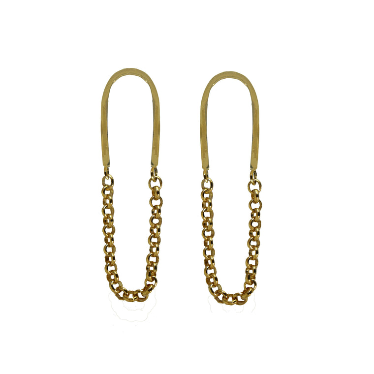 Chain Link Dangles - Mirror Polished Brass