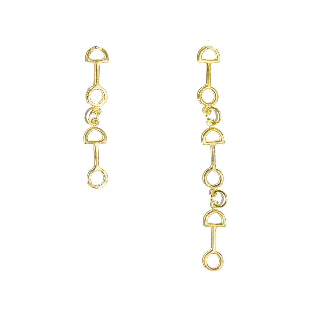 Asymmetrical Shackle Link Post Dangle Earrings - Dante Perozzi Jewelry