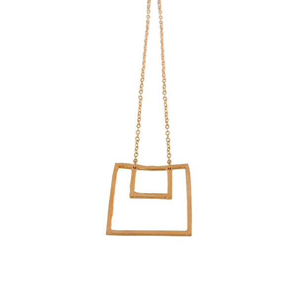 Large Nested Square Statement Necklace - Dante Perozzi Jewelry