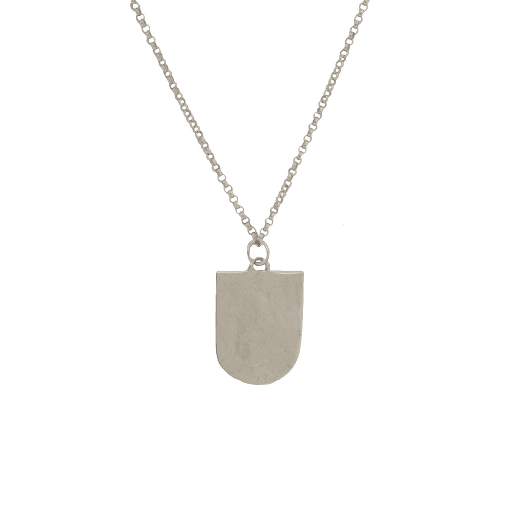 Shield Pendant- Stamping Optional